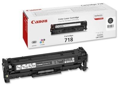 Toner oryginalny Canon 718BK